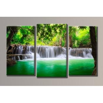 Картина модульная HolstArt Водопад 4 54*90,5см 3 модуля арт.HAT-021