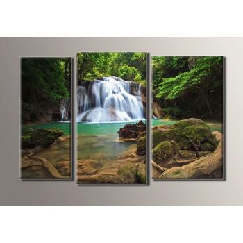 Картина модульная HolstArt Водопад 3 54*82,5см 3 модуля арт.HAT-020