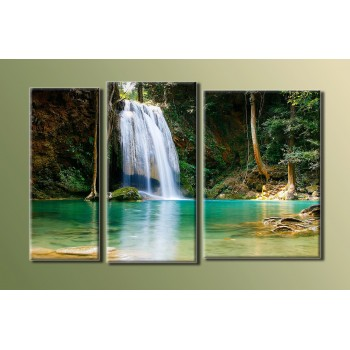 Картина модульная HolstArt Водопад 2 54*86см 3 модуля арт.HAT-019