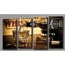 Картина модульная HolstArt Jack Daniel's 55*101,5см 4 модуля арт.HAF-142