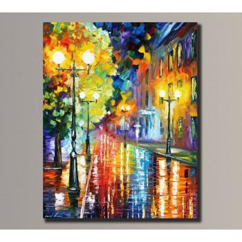 Картина (не раскраска) HolstArt Девушка под дождем 54*42,5см арт.HAS-034