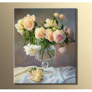 Картина (не раскраска) HolstArt Пионы 54*44,5см арт.HAS-043