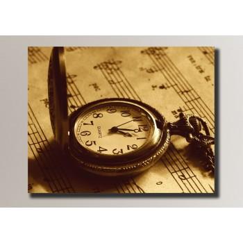 Картина (не раскраска) HolstArt Часы на нотах 54*42,5см арт.HAS-047