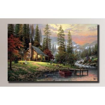 Картина (не раскраска) HolstArt Спокойный отдых 83,5*54см арт.HAS-052