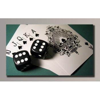Картина (не раскраска) HolstArt Poker 54*32см арт.HAS-054