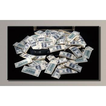 Картина (не раскраска) HolstArt Доллары 54*32см арт.HAS-118