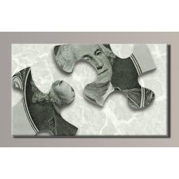 Картина (не раскраска) HolstArt Доллары 54*32см арт.HAS-120
