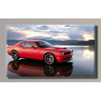Картина (не раскраска) HolstArt Dodge Challenger 54*32,5см арт.HAS-123