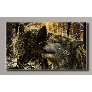 Картина HolstArt Art-wolves 55*32.5см арт.HAS-131