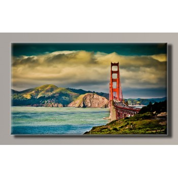 Картина (не раскраска) HolstArt San Francisco 55*32,5см арт.HAS-159