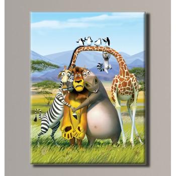 Картина (не раскраска) HolstArt Мадагаскар 41*54см арт.HAS-173