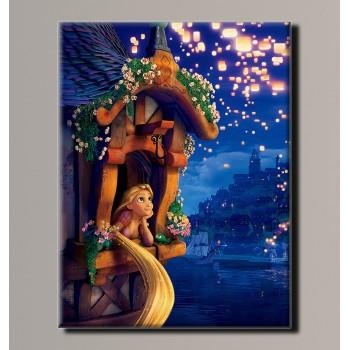 Картина (не раскраска) HolstArt Рапунцель 41*54см арт.HAS-177