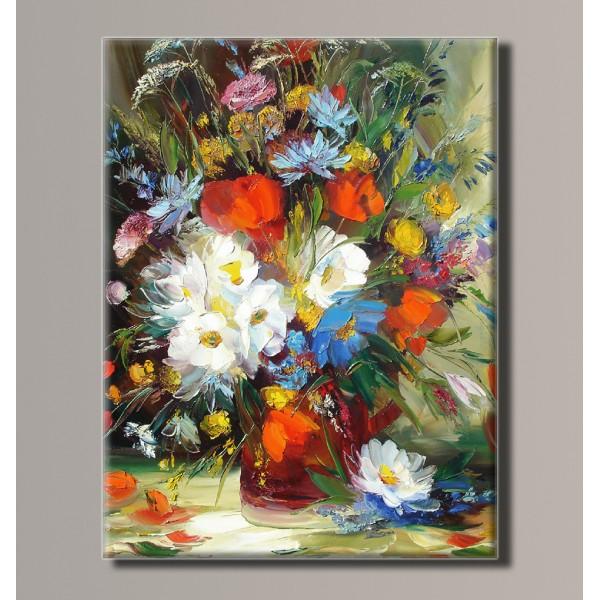Картина (не раскраска) HolstArt Цветы в вазе 41*54см арт.HAS-180