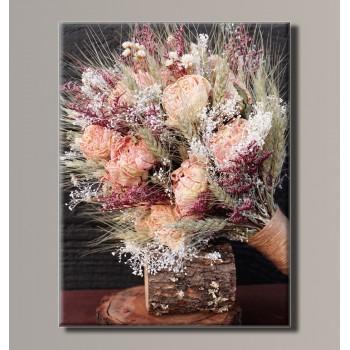 Картина (не раскраска) HolstArt Колосья в букете 41*54см арт.HAS-183