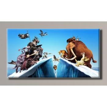 Картина (не раскраска) HolstArt Ледниковый период 102*54см арт.HAS-186