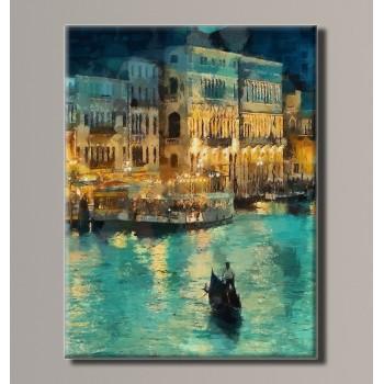 Картина (не раскраска) HolstArt Венеция Гранд канал 54*70,5 см арт.HAS-199