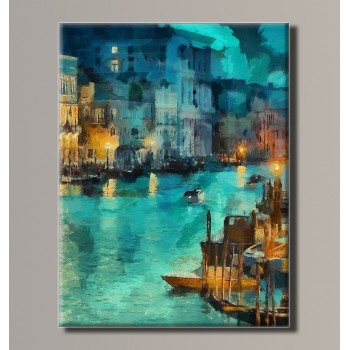 Картина (не раскраска) HolstArt Венеция Гранд канал 54*70,5 см арт.HAS-200