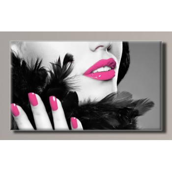 Картина HolstArt Fashion lips 55*32,5см арт.HAS-266