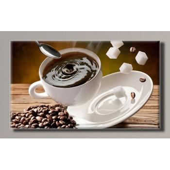 Картина (не раскраска) HolstArt Чашка кофе 55*32,5см арт.HAS-268