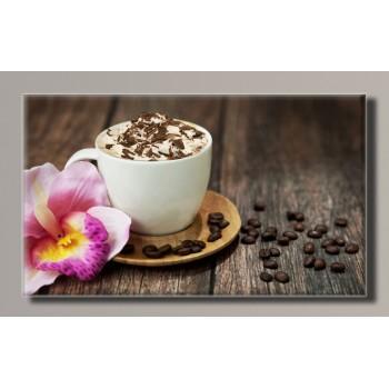 Картина (не раскраска) HolstArt Чашка кофе 91*55см арт.HAS-269