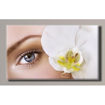 Картина (не раскраска) HolstArt Девушка с орхидеей 55*32,5см арт.HAS-358