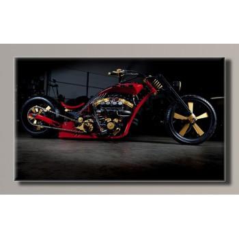 Картина (не раскраска) HolstArt мотоцикл 55*32,5см арт.HAS-372