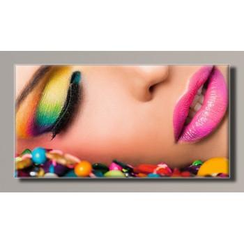 Картина (не раскраска) HolstArt Яркий макияж 55*29см арт.HAS-376