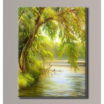 Картина (не раскраска) HolstArt Ива склонившаяся над водой 41*54см арт.HAS-387