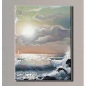 Картина (не раскраска) HolstArt Морской прибой 41*54см арт.HAS-391