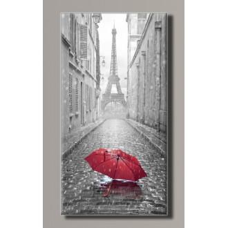Картина (не раскраска) HolstArt Красный зонтик в Париже 28,5*54см арт.HAS-412