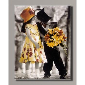Картина HolstArt Дети от Kim Anderson 42*55 см арт.HAS-425