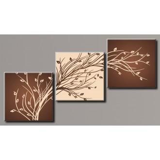 Картина модульная HolstArt Стильное дерево 4 93*171см арт.HAT-184