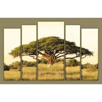 Картина модульная HolstArt Африканское дерево 85*136см 5 модулей арт.HAB-137