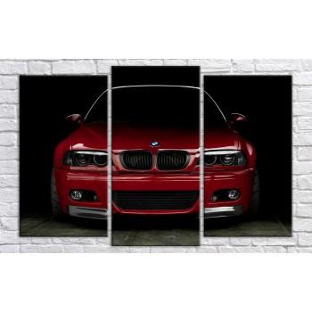 Картина модульная HolstArt BMW 106*160 см 3 модуля арт.HAT-229