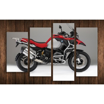 Картина модульная HolstArt Мотоцикл 3 65*102 см 4 модуля арт.HAF-177