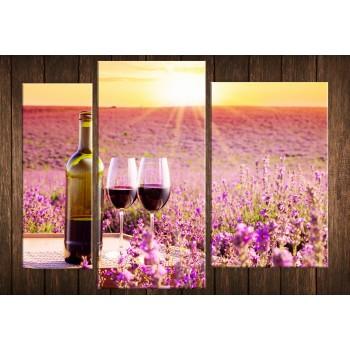 Картина модульная HolstArt Вино в провансе 97*130см арт.HAT-231