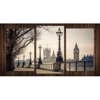 Картина модульная HolstArt Лондон 55*100см 3 модуля арт.HAT-237