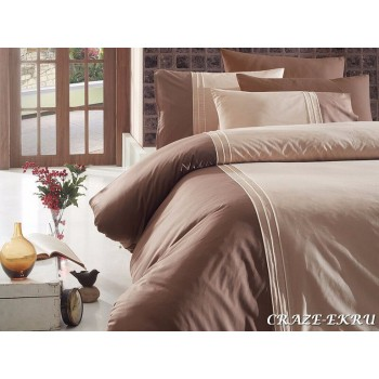 Комплект постельного белья First Choice Ranforce Deluxe семейный ранфорс арт.Craze Ekru