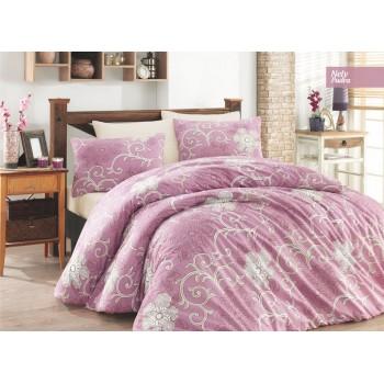 Комплект постельного белья Ecosse Ranforce семейный ранфорс арт.Nely Pudra