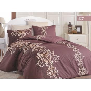 Комплект постельного белья Ecosse Ranforce семейный ранфорс арт.Neron Kahve