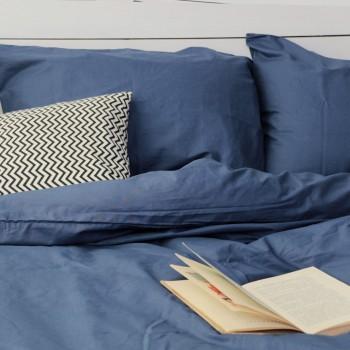 Комплект постельного белья Хлопковые традиции двуспальный поплин деним арт.PF31