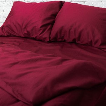 Комплект постельного белья Хлопковые традиции Евро сатин бордо арт.SE02