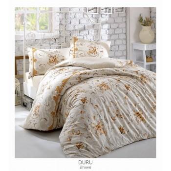 Комплект постельного белья Arya полуторный ранфорс Duru арт.TR1003834