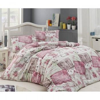 Комплект постельного белья Arya семейнный кретон Roses арт.TR1003629