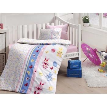 Комплект постельного белья в кроватку First Choice Satin Bamboo детский сатин арт.Sweet Toys Pembe