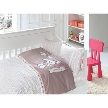 Комплект постельного белья в кроватку First Choice Satin Bamboo детский сатин арт.Baby Pudra