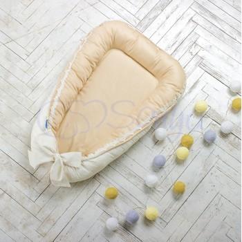 Кокон для новорожденных Маленькая Соня Mon Cheri 65*90 см поплин детский кофейный арт.502541