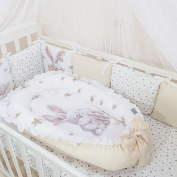 Кокон для новорожденных Маленькая Соня Magic 65*90 см сатин детский Зайка золотой арт.5041235