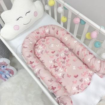 Кокон для новорожденных Маленькая Соня Baby Desing Premium 65*90 см поплин детский Бабочки арт.5020222