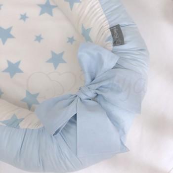 Кокон для новорожденных Маленькая Соня Baby Desing 65*90 см поплин детский Stars голубой арт.5019373